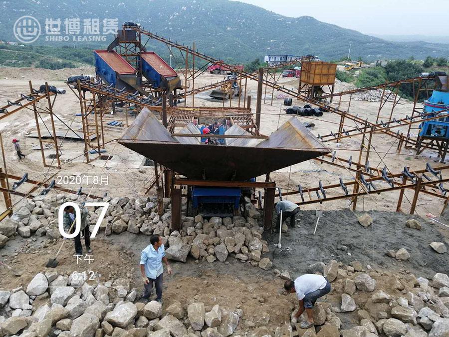 出租矿山设备—南阳方城250t/h麻骨砂生产线